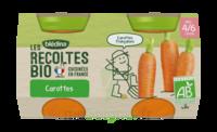 Blédina Les Récoltes Bio Carottes De Bretagne 2 Pots/130g à CHÂLONS-EN-CHAMPAGNE