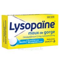 LysopaÏne Comprimés à Sucer Maux De Gorge Sans Sucre 2t/18 à CHÂLONS-EN-CHAMPAGNE