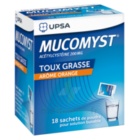 MUCOMYST 200 mg Poudre pour solution buvable en sachet B/18 à CHÂLONS-EN-CHAMPAGNE