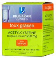 ACETYLCYSTEINE BIOGARAN CONSEIL 200 mg Pdr sol buv en sachet B/20 à CHÂLONS-EN-CHAMPAGNE