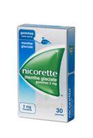NICORETTE 2 mg Gom à mâcher médic sans sucre menthe glaciale Plq/30gom à CHÂLONS-EN-CHAMPAGNE
