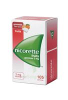 Nicorette 2 mg Gomme à mâcher médicamenteuse sans sucre fruits Plq/105 à CHÂLONS-EN-CHAMPAGNE