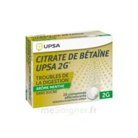 Citrate de Bétaïne UPSA 2 g Comprimés effervescents sans sucre menthe édulcoré à la saccharine sodique T/20 à CHÂLONS-EN-CHAMPAGNE