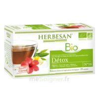 Herbesan Infusion Bio Tisane Détox 20 Sachets à CHÂLONS-EN-CHAMPAGNE