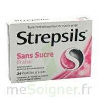 STREPSILS FRAISE SANS SUCRE, pastille édulcorée à l'isomalt, au maltitol et à la saccharine sodique à CHÂLONS-EN-CHAMPAGNE