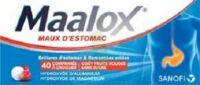 MAALOX MAUX D'ESTOMAC HYDROXYDE D'ALUMINIUM/HYDROXYDE DE MAGNESIUM 400 mg/400 mg SANS SUCRE FRUITS ROUGES, comprimé à croquer édulcoré à la saccharine sodique, au sorbitol et au maltitol à CHÂLONS-EN-CHAMPAGNE