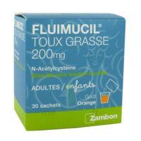 FLUIMUCIL EXPECTORANT ACETYLCYSTEINE 200 mg SANS SUCRE, granulés pour solution buvable en sachet édulcorés à l'aspartam et au sorbitol à CHÂLONS-EN-CHAMPAGNE