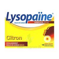 LYSOPAÏNE AMBROXOL 20 mg Pastilles maux de gorge sans sucre citron Plq/18 à CHÂLONS-EN-CHAMPAGNE