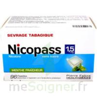 Nicopass 1,5 mg Pastille sans sucre menthe fraîcheur Plq/96 à CHÂLONS-EN-CHAMPAGNE