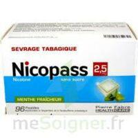 Nicopass 2,5 mg Pastille menthe fraîcheur sans sucre Plq/96 à CHÂLONS-EN-CHAMPAGNE