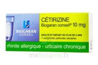 CETIRIZINE BIOGARAN CONSEIL 10 mg, comprimé pelliculé sécable à CHÂLONS-EN-CHAMPAGNE