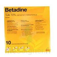 Betadine Tulle 10 % Pans Méd 10x10cm 10sach/1 à CHÂLONS-EN-CHAMPAGNE
