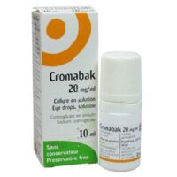 CROMABAK 20 mg/ml, collyre en solution à CHÂLONS-EN-CHAMPAGNE
