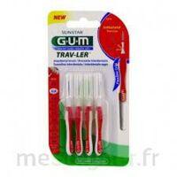 GUM TRAV - LER, 0,8 mm, manche rouge , blister 4 à CHÂLONS-EN-CHAMPAGNE