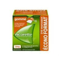 Nicorette 2 mg Gomme à mâcher médicamenteuse sans sucre fruits Plq/210 à CHÂLONS-EN-CHAMPAGNE