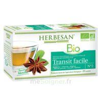 Herbesan Infusion Bio Tisane transit facile 20 Sachets à CHÂLONS-EN-CHAMPAGNE
