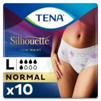Tena Lady Silhouette Slip Absorbant Blanc Normal Large Paquet/10 à CHÂLONS-EN-CHAMPAGNE